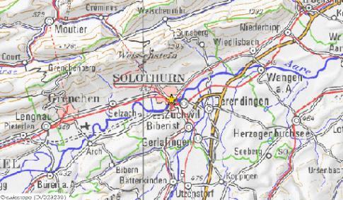 carte routière Solothurn