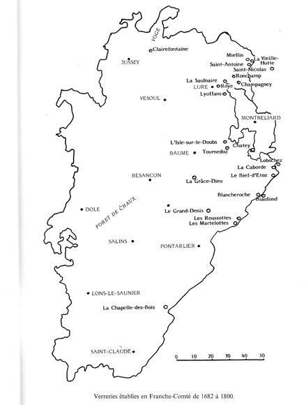 carte Franche Comté