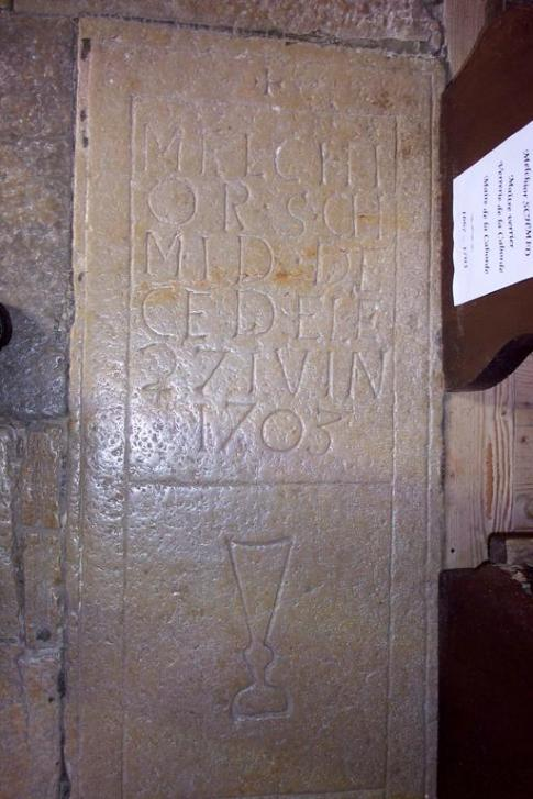 pierre tombale de Melchior
