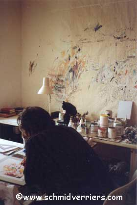 JL dans son atelier